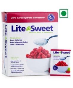 Lite&Sweet Xylitol and Erythritol Sweetener - 100 count 4gm Sachets