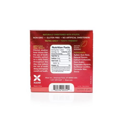 Xlear - Spry Extra Strong Xylitol Power Mints Cinnamon