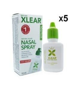 Xlear Nasal Spray 10ml- 5 Pack