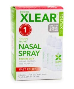 Xlear Natural Saline Nasal Spray With Xylitol.75 Fl Oz (3 Pack)