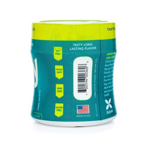 Spry Xlear, Stronger Longer Dental Defense Gum, Natural Wintergreen, Sugar Free, 55 Count